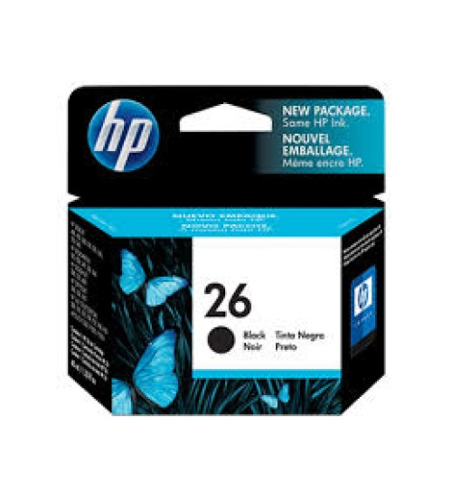 HP 26 Black Inkjet Print Cartridge- Part No51626AA