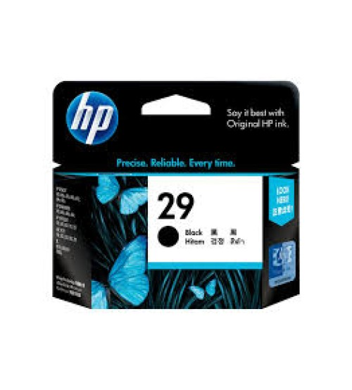 HP 29 Black Inkjet Print Cartridge- Part No51629AA