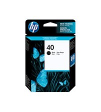 HP 40 Black Inkjet Print Cartridge- Part No51640AA