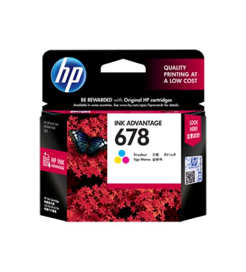 HP 678 Tri-color Ink Cartridge- Part NoCZ108AA